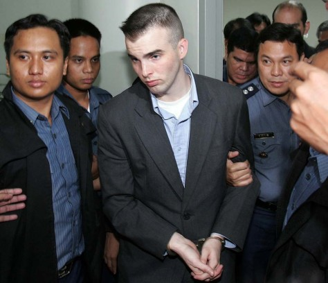 IMAGE: U.S. Marine in Philippine police custody