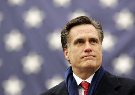 Massachusetts Governor Mitt Romney