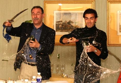 Image: Sabering champagne