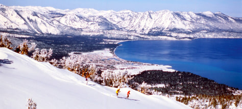 Image: Lake Tahoe skiing