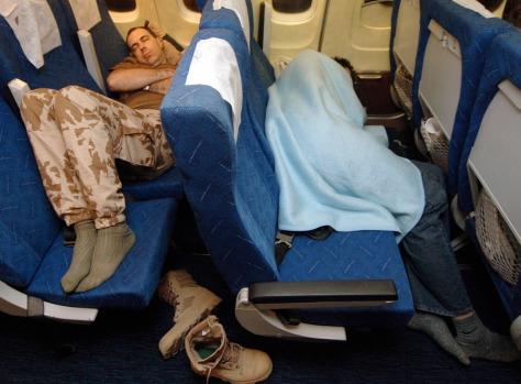 Image: Sleeping passengers