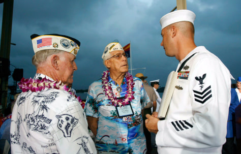 Image: Pearl Harbor gathering