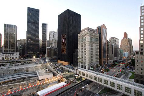 IMAGE: Skyscraper damaged in WTC collapse