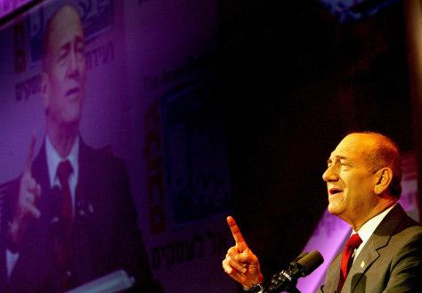 Ehud Olmert Makes Speech Before European Tour