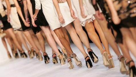 Image: Fashion models in Milan, Italy