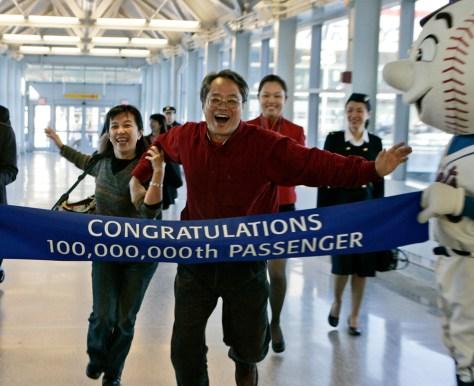 Image: 100 millionth passenger