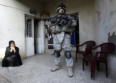 Image: U.S. soldier in Baghdad