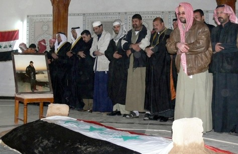 Image: Saddam coffin