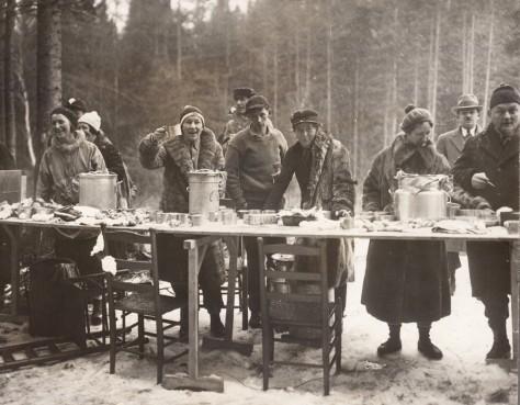 Image: XC ski event, 1932