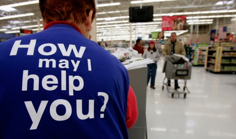 Image: Wal-Mart worker