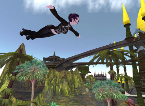 Image: Flying in Second Life