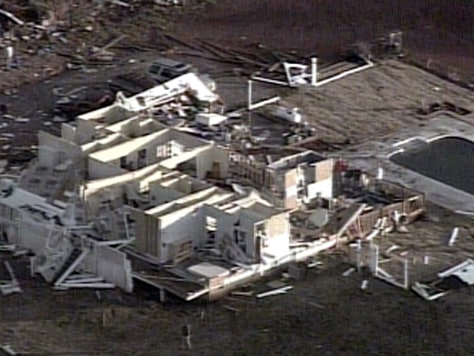 IMAGE: HOME DESTROYED BY STORM