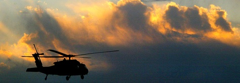 IMAGE: Coalition helicopter patrol in Afghanistan