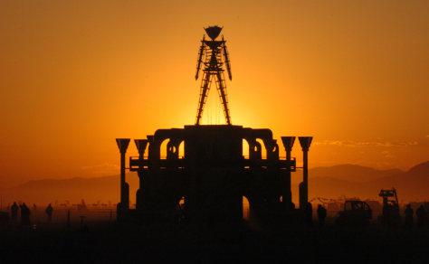 Image: Burning Man symbol.
