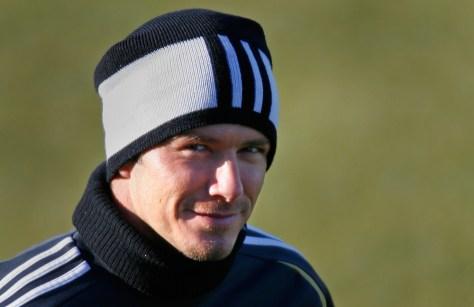 Beckham smiles