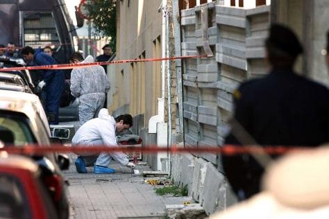 Image: Bomb squad investigators.