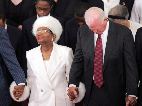 IMAGE: MARTIN LUTHER KING'S SISTER AT CHURCH SERVICE