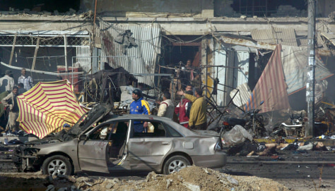IMAGE: Baghdad bombings aftermath