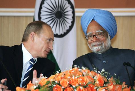 Image: Putin and Singh