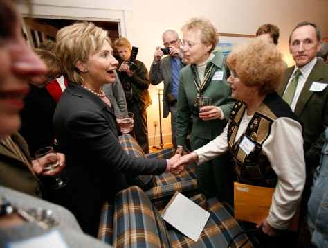 IMAGE: Hillary Clinton at a party