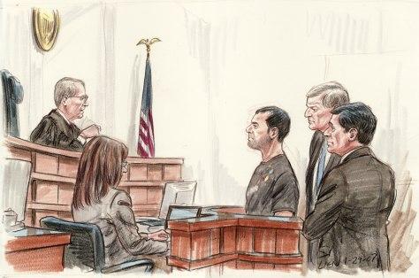 IMAGE: Wesam al-Delaema Courtroom sketch