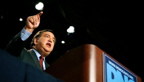 New Mexico Governor and Democratic presidential candidate Bill Richardson speaks at the Democratic National Committee Winter Meeting in Washington