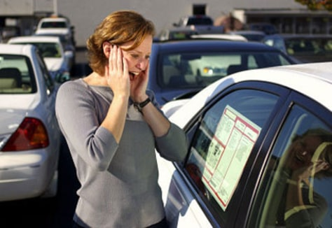 Image: Upset car buyer