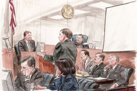 Image: Tim Russert at trial