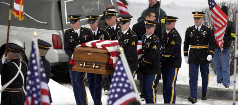 Image: U.S. Army Pfc. Shawn Falter's funeral.