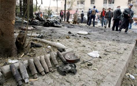 Image: Artillery shells in Baghdad