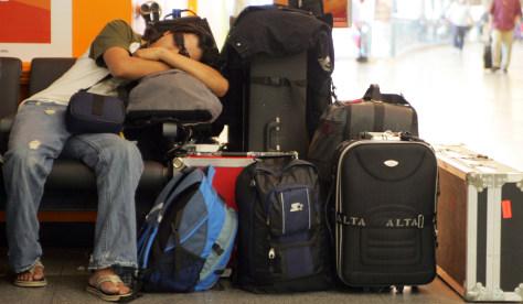 Image: Tired traveler
