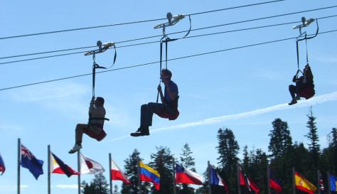 Image: Ziplining
