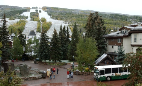 Image: Light snow at Vail Mountain