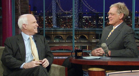 IMAGE: John McCain, David Letterman