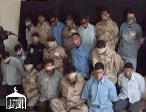 IMAGE: Purportedly kidnapped Iraqi officials.