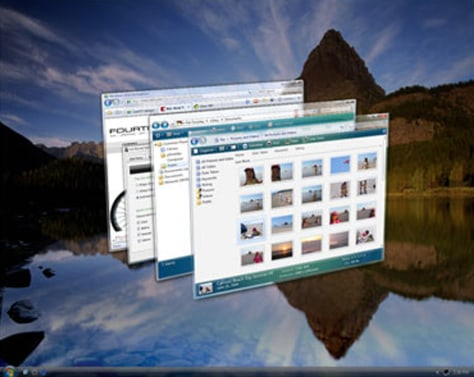 IMAGE: Windows Vista display