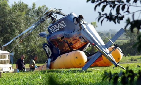 Image: Crashed helicopter.