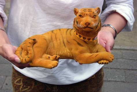 IMAGE: BOTTLE OF TIGER WINE SHAPED LIKE TIGER