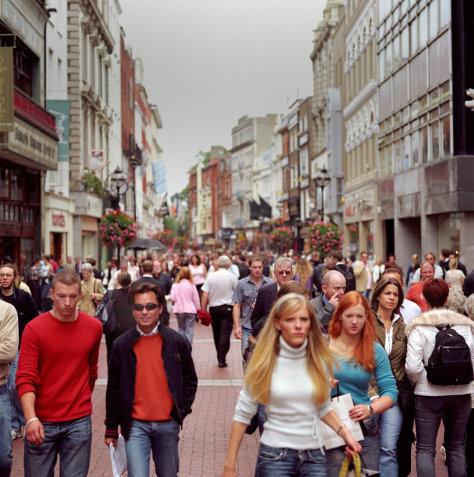 Image: Pedestrians in Dublin