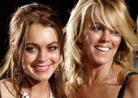 Image: Lindsay and Dina Lohan