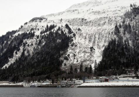 IMAGE: SNOW ON MOUNT JUNEAU