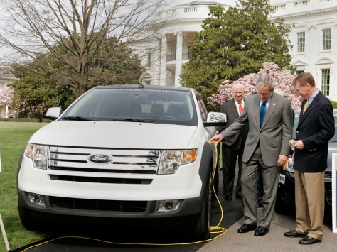 Image: Bush and electric car