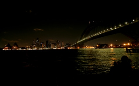 Image: Sydney skyline during Earth Hour