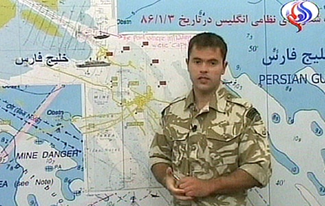 British soldier speaks in a video broadcast by Iranian Arabic-speaking television station Al-Alam