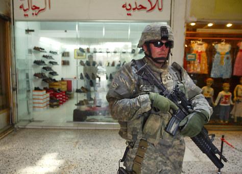 Image: Soldier in Baghdad