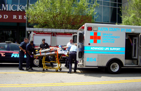 Image: Ambulance outside CNN