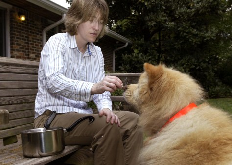 Image: Amy Parish and dog