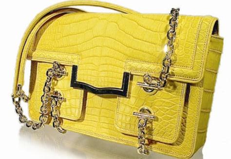 Image: Leiber Dandelion Suede Gator Handbag