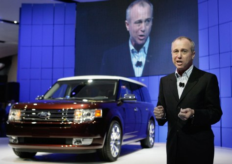 J Mays shows the new Ford Flex