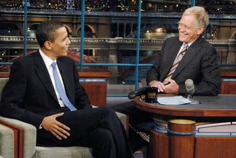 Image: David Letterman, Barack Obama